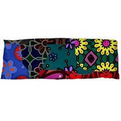 Digitally Created Abstract Patchwork Collage Pattern Body Pillow Case Dakimakura (two Sides)