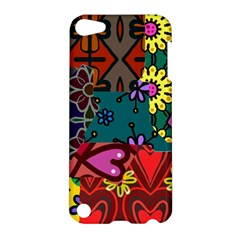 Digitally Created Abstract Patchwork Collage Pattern Apple Ipod Touch 5 Hardshell Case