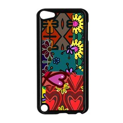 Digitally Created Abstract Patchwork Collage Pattern Apple Ipod Touch 5 Case (black)