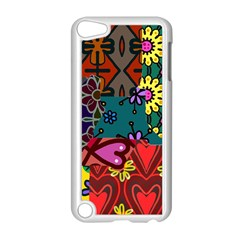 Digitally Created Abstract Patchwork Collage Pattern Apple Ipod Touch 5 Case (white)
