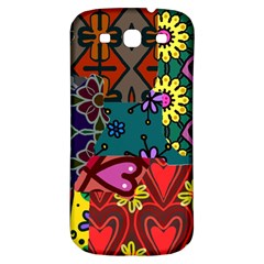 Digitally Created Abstract Patchwork Collage Pattern Samsung Galaxy S3 S Iii Classic Hardshell Back Case