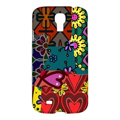 Digitally Created Abstract Patchwork Collage Pattern Samsung Galaxy S4 I9500/I9505 Hardshell Case