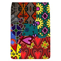Digitally Created Abstract Patchwork Collage Pattern Flap Covers (l)