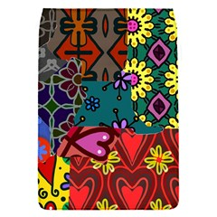 Digitally Created Abstract Patchwork Collage Pattern Flap Covers (s)