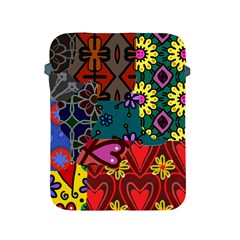 Digitally Created Abstract Patchwork Collage Pattern Apple Ipad 2/3/4 Protective Soft Cases