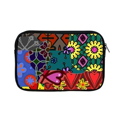 Digitally Created Abstract Patchwork Collage Pattern Apple Ipad Mini Zipper Cases