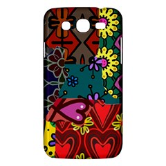 Digitally Created Abstract Patchwork Collage Pattern Samsung Galaxy Mega 5 8 I9152 Hardshell Case