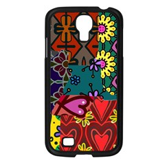 Digitally Created Abstract Patchwork Collage Pattern Samsung Galaxy S4 I9500/ I9505 Case (Black)