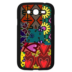 Digitally Created Abstract Patchwork Collage Pattern Samsung Galaxy Grand Duos I9082 Case (black)