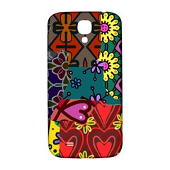 Digitally Created Abstract Patchwork Collage Pattern Samsung Galaxy S4 I9500/i9505  Hardshell Back Case