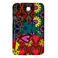 Digitally Created Abstract Patchwork Collage Pattern Samsung Galaxy Tab 3 (7 ) P3200 Hardshell Case