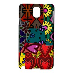 Digitally Created Abstract Patchwork Collage Pattern Samsung Galaxy Note 3 N9005 Hardshell Case