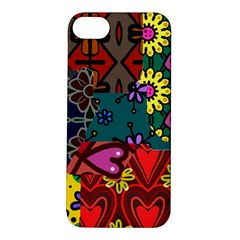 Digitally Created Abstract Patchwork Collage Pattern Apple iPhone 5S/ SE Hardshell Case