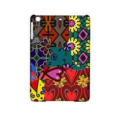 Digitally Created Abstract Patchwork Collage Pattern Ipad Mini 2 Hardshell Cases