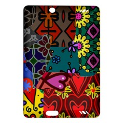 Digitally Created Abstract Patchwork Collage Pattern Amazon Kindle Fire Hd (2013) Hardshell Case