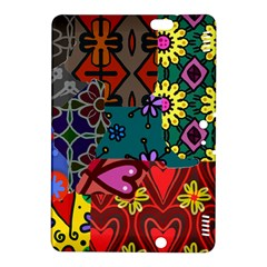 Digitally Created Abstract Patchwork Collage Pattern Kindle Fire Hdx 8 9  Hardshell Case