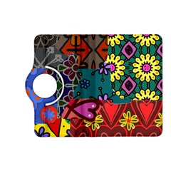 Digitally Created Abstract Patchwork Collage Pattern Kindle Fire HD (2013) Flip 360 Case