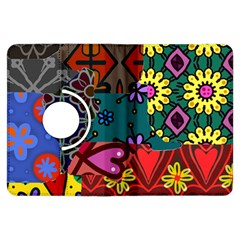 Digitally Created Abstract Patchwork Collage Pattern Kindle Fire Hdx Flip 360 Case