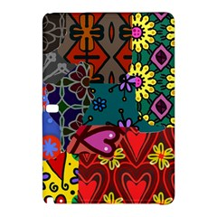 Digitally Created Abstract Patchwork Collage Pattern Samsung Galaxy Tab Pro 12.2 Hardshell Case