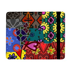 Digitally Created Abstract Patchwork Collage Pattern Samsung Galaxy Tab Pro 8 4  Flip Case