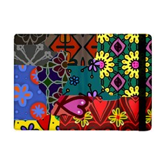 Digitally Created Abstract Patchwork Collage Pattern iPad Mini 2 Flip Cases