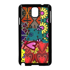 Digitally Created Abstract Patchwork Collage Pattern Samsung Galaxy Note 3 Neo Hardshell Case (black)