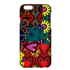 Digitally Created Abstract Patchwork Collage Pattern Apple Iphone 6 Plus/6s Plus Hardshell Case