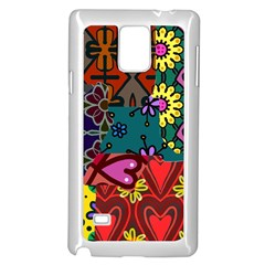 Digitally Created Abstract Patchwork Collage Pattern Samsung Galaxy Note 4 Case (white)