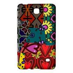 Digitally Created Abstract Patchwork Collage Pattern Samsung Galaxy Tab 4 (7 ) Hardshell Case