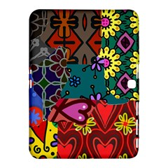 Digitally Created Abstract Patchwork Collage Pattern Samsung Galaxy Tab 4 (10.1 ) Hardshell Case