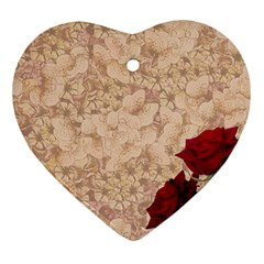Retro Background Scrapbooking Paper Ornament (heart)