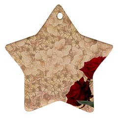 Retro Background Scrapbooking Paper Ornament (star)