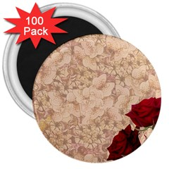 Retro Background Scrapbooking Paper 3  Magnets (100 Pack)