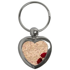 Retro Background Scrapbooking Paper Key Chains (Heart)
