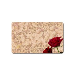 Retro Background Scrapbooking Paper Magnet (name Card)