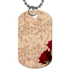 Retro Background Scrapbooking Paper Dog Tag (one Side)
