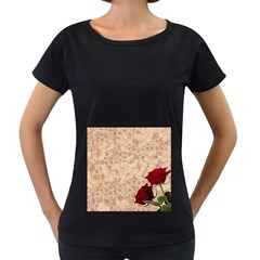 Retro Background Scrapbooking Paper Women s Loose Fit T Shirt (black)