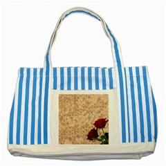 Retro Background Scrapbooking Paper Striped Blue Tote Bag