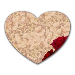 Retro Background Scrapbooking Paper Heart Mousepads