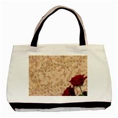 Retro Background Scrapbooking Paper Basic Tote Bag (two Sides)