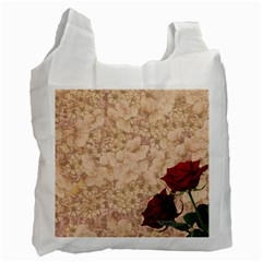 Retro Background Scrapbooking Paper Recycle Bag (one Side)