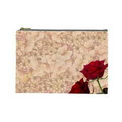 Retro Background Scrapbooking Paper Cosmetic Bag (Large)