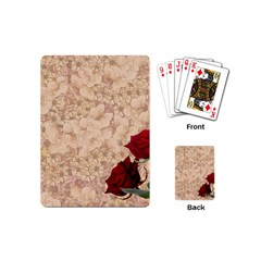 Retro Background Scrapbooking Paper Playing Cards (mini)