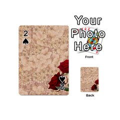 Retro Background Scrapbooking Paper Playing Cards 54 (mini)