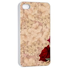 Retro Background Scrapbooking Paper Apple Iphone 4/4s Seamless Case (white)