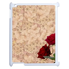 Retro Background Scrapbooking Paper Apple iPad 2 Case (White)