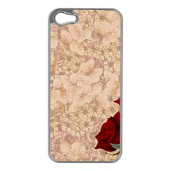 Retro Background Scrapbooking Paper Apple Iphone 5 Case (silver)