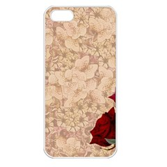 Retro Background Scrapbooking Paper Apple Iphone 5 Seamless Case (white)