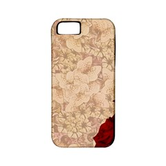 Retro Background Scrapbooking Paper Apple Iphone 5 Classic Hardshell Case (pc+silicone)