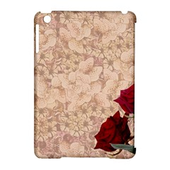 Retro Background Scrapbooking Paper Apple Ipad Mini Hardshell Case (compatible With Smart Cover)